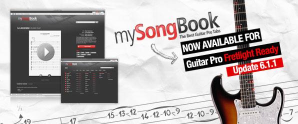 update 6 1 1 mysongbook now fretlight ready guitar pro blog arobas music. Black Bedroom Furniture Sets. Home Design Ideas