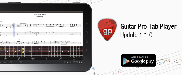 Guitar Pro Tab Player optimized for tablets