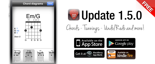 Version 1.5.0 of Guitar Pro App Now Available!