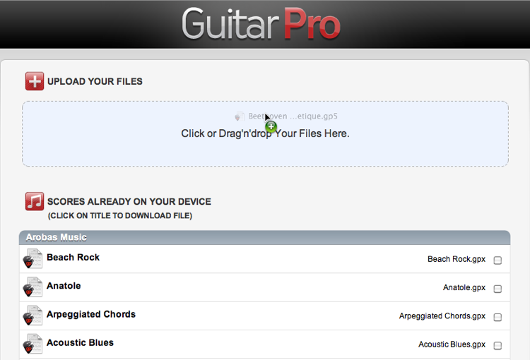How to Import your Tabs Onto the Guitar Pro Application