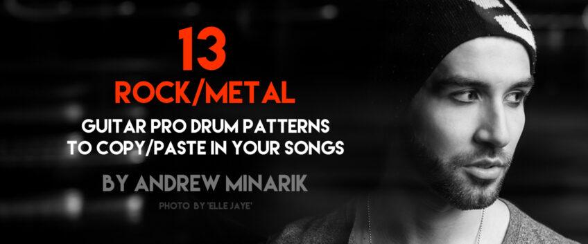13 Rock Metal Drum Beats To Copy Paste In Your Tabs Guitar Pro