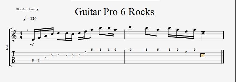 guitar pro score