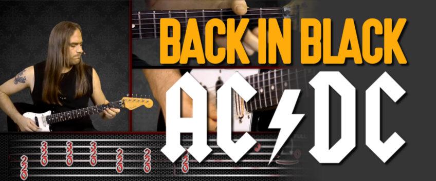 Apprenez Back In Black D'AC/DC avec HGuitare.com