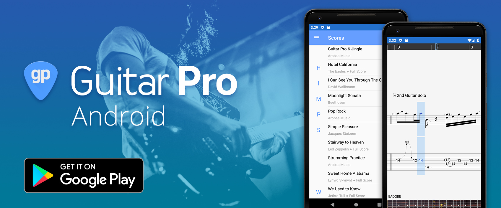 Guitar Pro for Android, now compatible with Guitar Pro 7