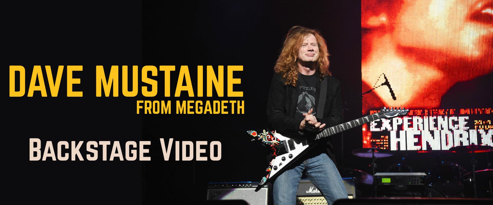 En coulisse avec Dave Mustaine du groupe Megadeth
