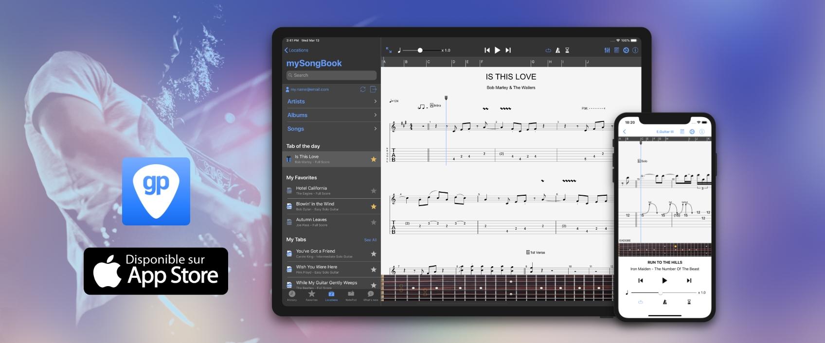 Guitar Pro pour iOS : nouvelle mise à jour 1.9.0