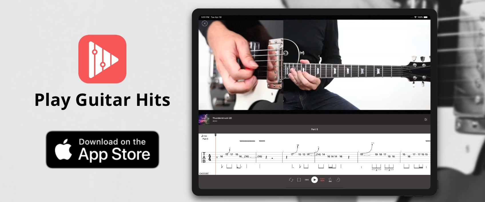 Play Guitar Hits now available on the App Store
