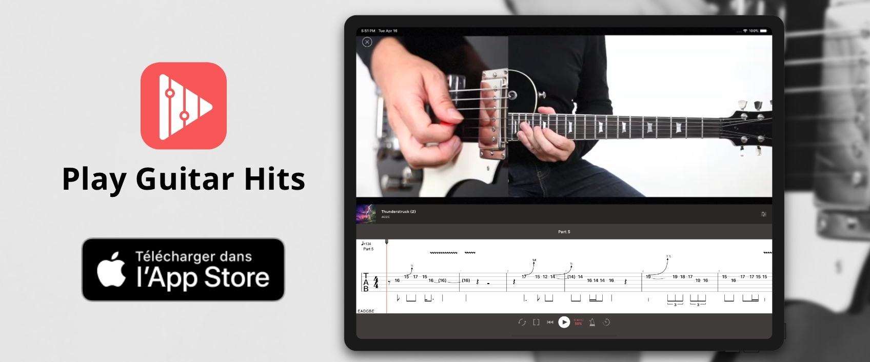 Nouvelle appli Play Guitar Hits