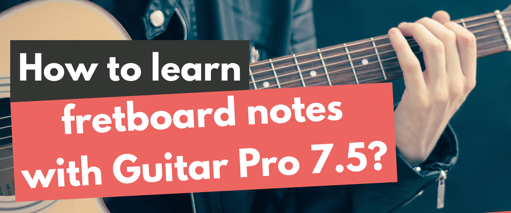 Finding Chords with Guitar Pro 7.5