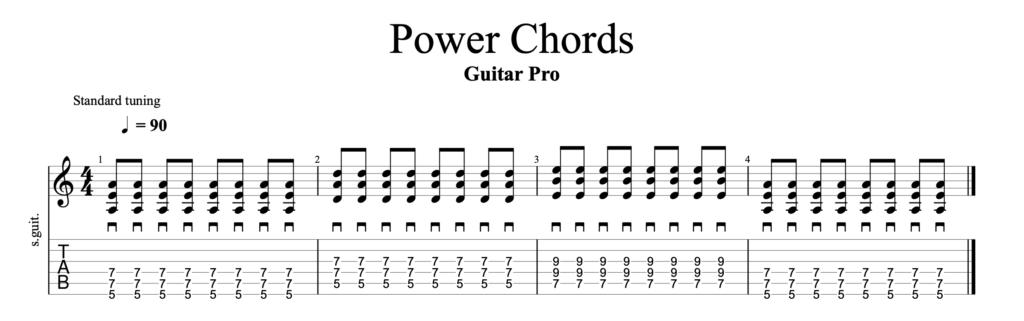 guitar power chords exercises