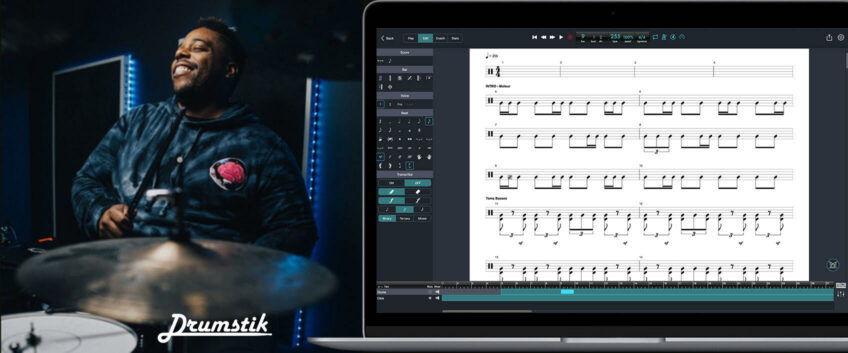 transcribe drums by playing