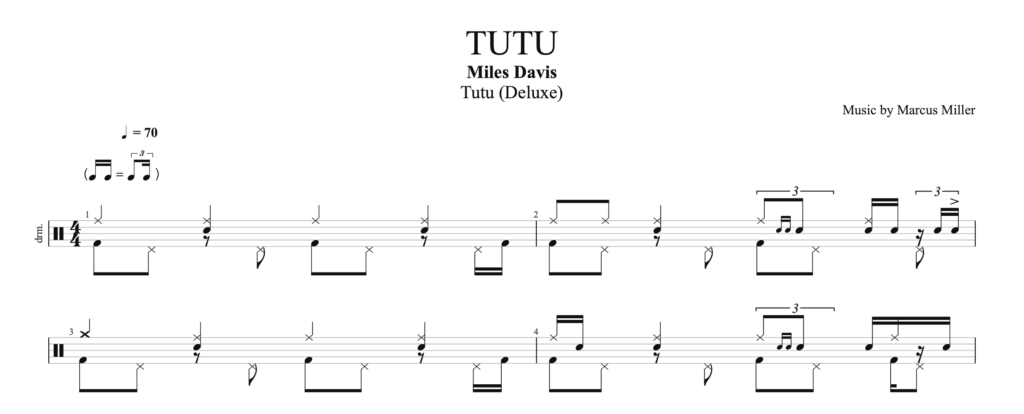 How to play Tutu by Miles Davis, on drums.