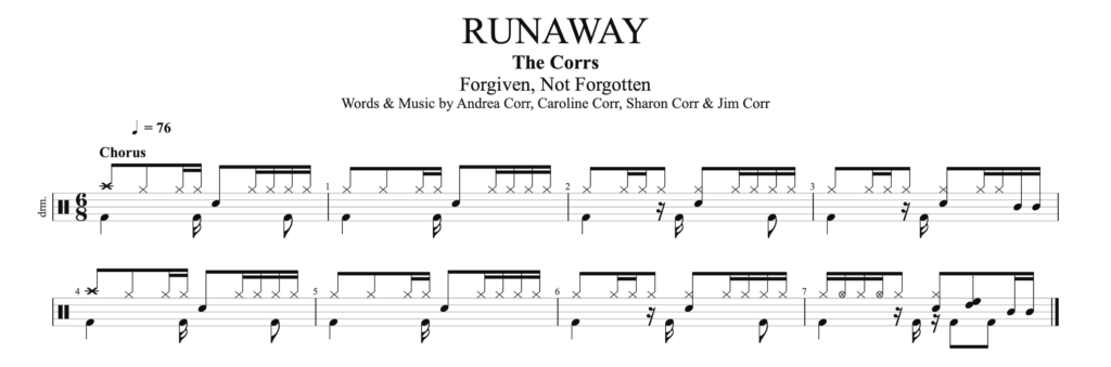 How to play Runaway by The Corrs, on drums?